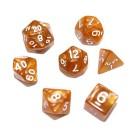 Набор из 7 кубиков для D&D: Мраморный-Карамельный