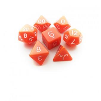 Набор из 7 кубиков для D&D: Оранжевый