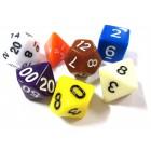 Набор из 7 кубиков для D&D: Разноцветный