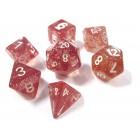 Набор из 7 кубиков для D&D: Оранжевый Глиттер