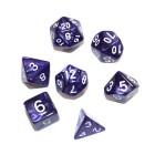 Набор из 7 кубиков для D&D: Мраморный-Фиолетовый