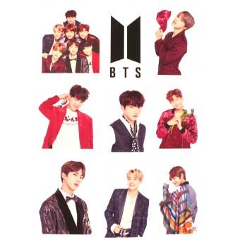 стикеры BTS (версия 1, лист А5)