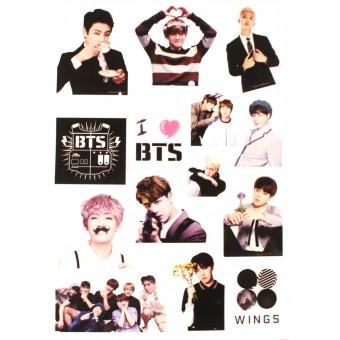 стикеры BTS (версия 2, лист А5)