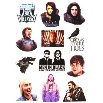 стикеры Игра Престолов / Game of Thrones (лист А5)