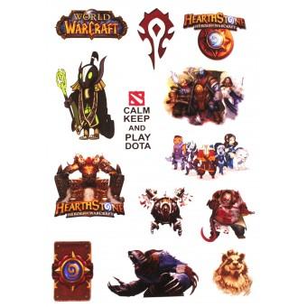 стикеры Игры (лист А5)