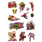 стикеры Марвел / Marvel (лист А5)