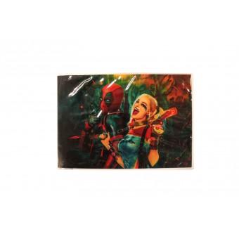 Обложка на зачетку Дэдпул и Харли Квин / Deadpool and Harley Queen