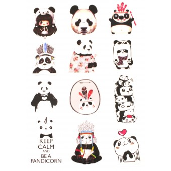 стикеры Панды (лист А5)