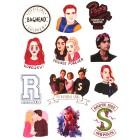 стикеры Ривердэил / Riverdale (вариант 2, лист А5)