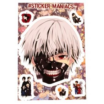 стикеры SM Аниме / Anime (версия 1, лист А5)
