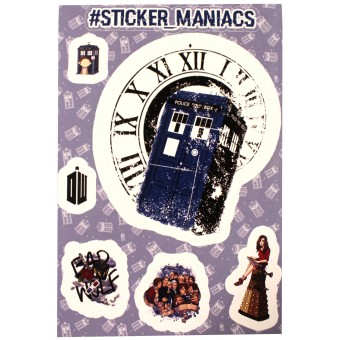 стикеры SM Доктор Кто / Doctor Who (лист А5)