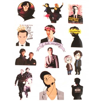 стикеры Шерлок / Sherlock  (лист А5)