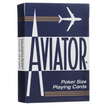 карты для покера Aviator. Покерный размер, стандартный индекс (синие)
