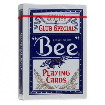 карты для покера Bee №92. Крупный индекс, синие (казино Кристалл)