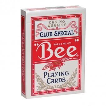 карты для покера Bee №92. Крупный индекс, красные (казино Кристалл)