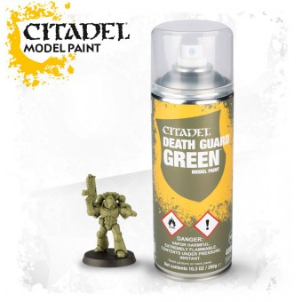 Грунтовка-спрей для миниатюр Citadel Death Guard Green Sprey / Гвардия Смерти