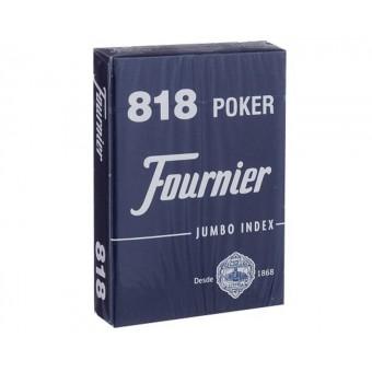 карты для покера Fournier 818 синие (крупный индекс, синие)