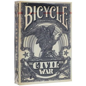 карты для покера Bicycle Гражданская война (синие)