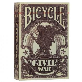 карты для покера Bicycle Гражданская война (красные)
