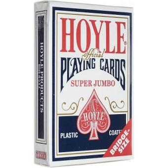 карты для покера Hoyle. Размер бридж (крупный индекс, синие)