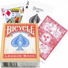 карты для покера Bicycle LEAGUE BACK (красные)