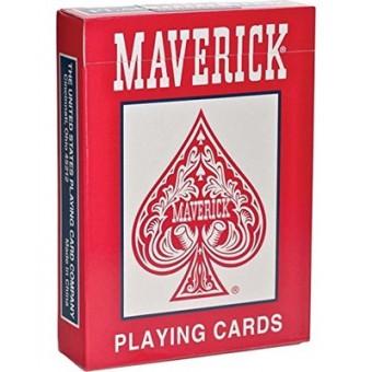 карты для покера Maverick. Стандартный индекс (красные)