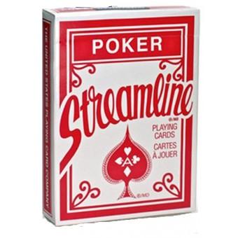 карты для покера Streamline стандартный индекс (красные)