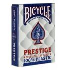 карты для покера Bicycle Prestige 100% пластик (синие)