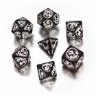 Набор из 7 кубиков Драконьи / Dragons Dice (чёрно-белые)
