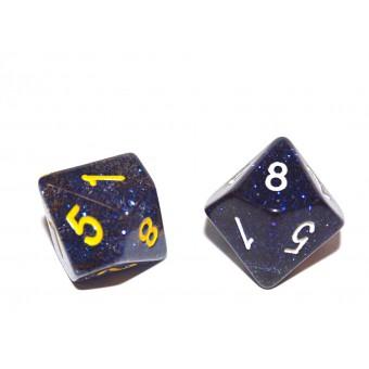 Кубик D10 Глиттер, в ассортименте