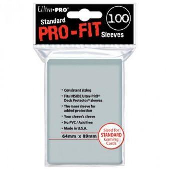 Протекторы Ultra-Pro (64 x 89 мм, Perfect Fit, профиты, 100 штук)