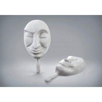 Мафия. Пластиковая маска для мафии Лицемер (белая)