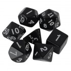 Набор из 7 кубиков для D&D: Черный