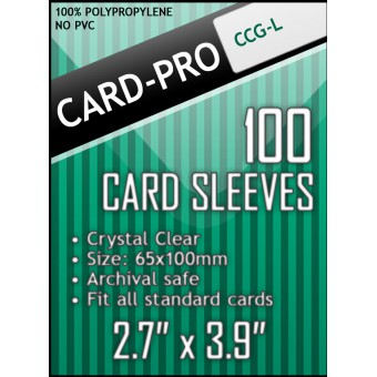 Протекторы Card-pro (CCG-L), 67 x 103 мм., 100 штук)