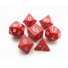 Набор из 7 кубиков для D&D: Красный