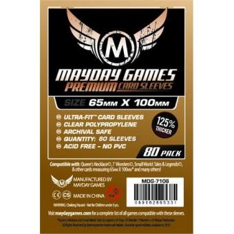 Протекторы MayDay: Прозрачные (Premium Sleeve, 65 х 100 мм., 80 шт.)