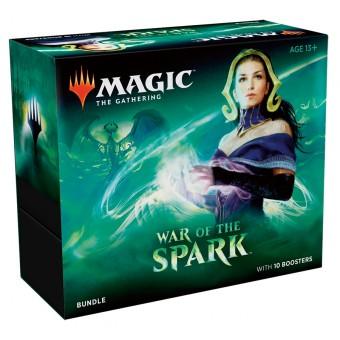 MTG. 2019. Война Искры / War of the Spark. Подарочный набор Bundle из 10 бустеров