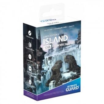 Протекторы Ultimate Guard Lands Edition II: Остров (66 х 91 мм., 100 шт.)