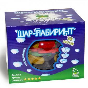 Головоломка Шар Лабиринтус 168 шагов, 22 сантиметра