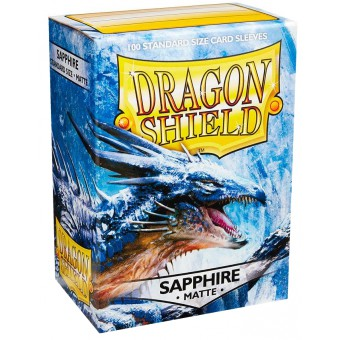 Протекторы Dragon Shield (66 х 91 мм., 100 шт.): Sapphire / Сапфировые матовые