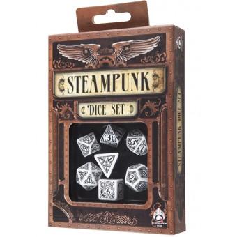 набор из 7 кубиков Стимпанк / Steam Dice (бело-чёрные)
