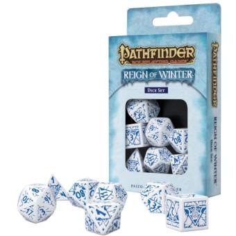 набор из 7 кубиков Reign of Winter (бело-синие)