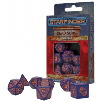 набор из 7 кубиков Dead Suns Dice Set (сине-оранжевые)