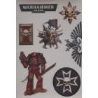 стикеры WARHAMMER 40000 (лист)