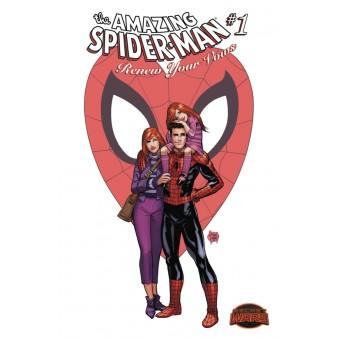 Постер Amazing Spider-Man Renew Your Vows #1 By Adam Kubert (60 см. х 90 см.)