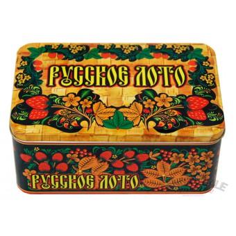 настольная игра Русское лото в жестяной коробке. Подарочное издание